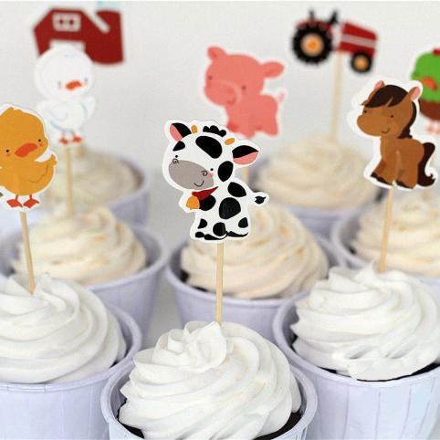 cake topper animaux de la ferme