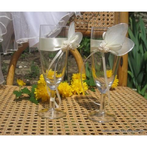 flûtes champagne mariés