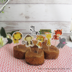 cake topper animaux sauvages-animaux du zoo