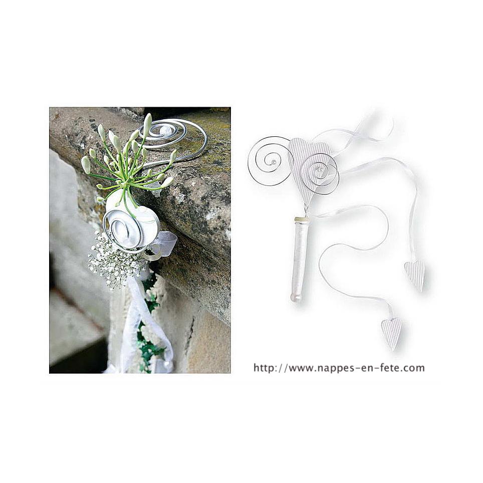 Porte fleurs pour décoration de mariage