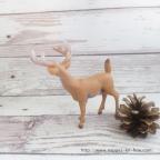 Figurine cerf et biche pour décoration d'anniversaire enfant thème forêt