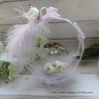 Porte alliance rose et gris