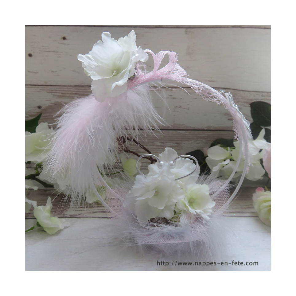 Porte alliance original avec fleurs d'hortensia