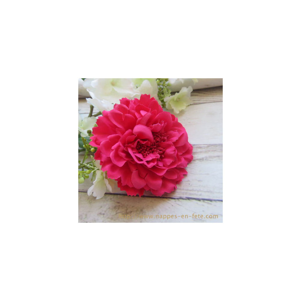 fleur en tissu rose pour coiffure ou broche. Black Bedroom Furniture Sets. Home Design Ideas