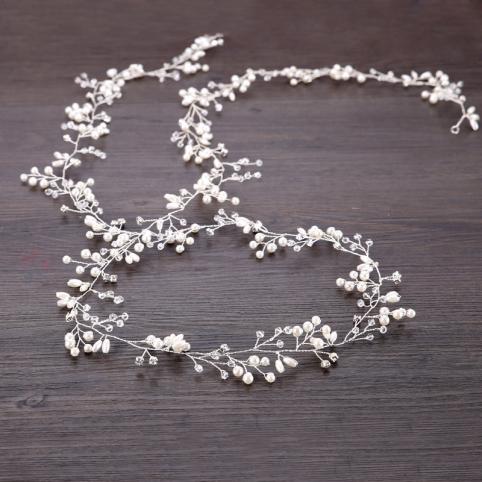 headband de mariée, guirlande de perles , bijou de tête