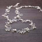 headband de mariée, guirlande de perles, bijou de tête