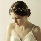 headband de mariée, guirlande de feuilles argentées, bijou de tête