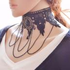 collier gothique noir, modèle victoria