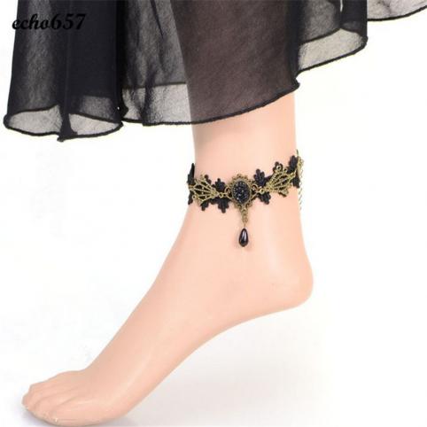 Bracelet de cheville gothique en dentelle