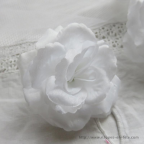 Camélia blanc, jolie fleur artificielle en soie