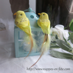 couple d'oiseaux artificiels couleur au choix