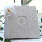Livre d'or personnalisé orchidée BLANCHE