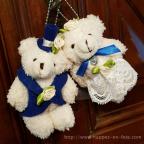 peluche petits oursons mariage à vos couleurs