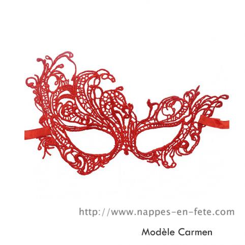 Masque vénitien en dentelle rouge, masque gothique