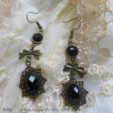 Boucles d'oreilles, pendants d'oreilles gothique