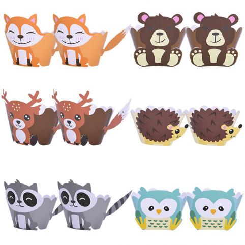 cup cake animaux de la forêt anniversaire enfant