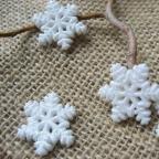 flocons de neige blancs pour deco de table de Noël