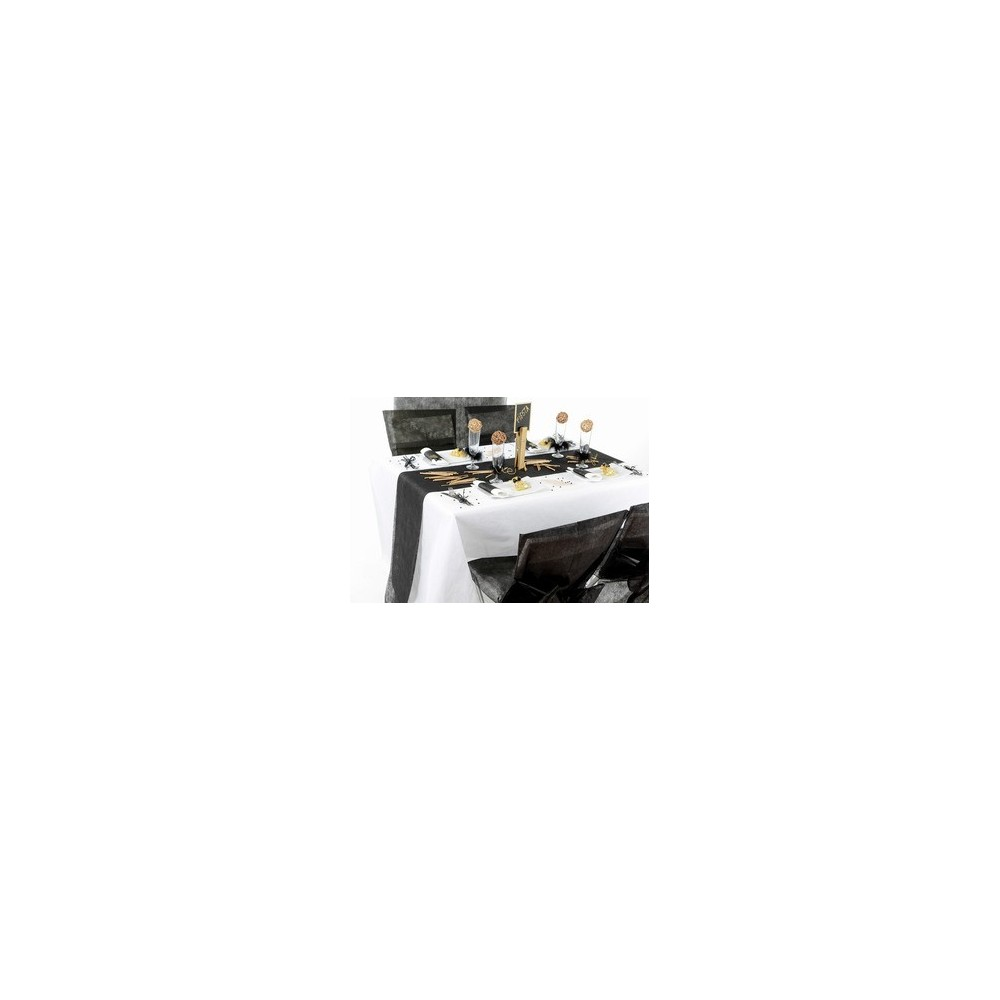 Chemin de table intiss noir - Set de table intisse ...