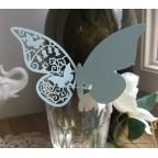 Marque place papillon bleu clair