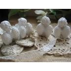 Anges, lot de 4 figurines anges pour baptême