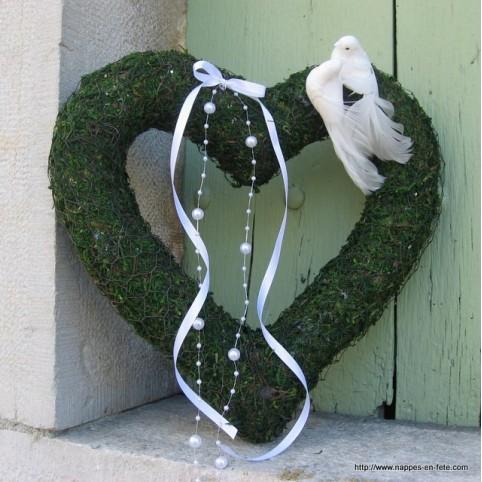 Coeur en mousse déco murale de mariage