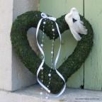 coeur en mousse pour déco murale mariage