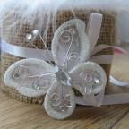 papillon blanc pour déco de table
