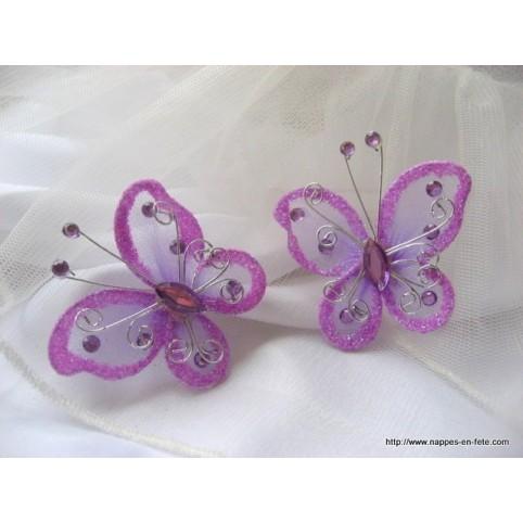 papillon en tissu lavande pour déco de table