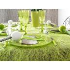 Chemin de table Abaca vert